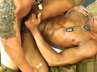 cumshot Cum spraying soldier drilled look into horizon amateur