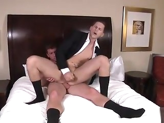 gay Stress relieving blowjob and anal leman blowjob