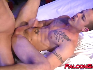 big cock (gay) Stud smells some panties before anal with his partner bareback (gay)