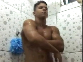 masturbation (gay) Str8 Arab boy showers damper making out his gf big cock (gay)