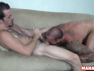 big cock (gay) MANALIZED Inked Hunk Sean Duran Barebacked Chit Gigantic Head bareback (gay)